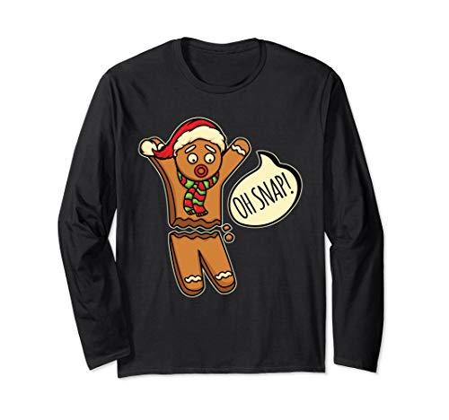 Oh Snap! Keks Plätzchen Backen Weihnachten Bäcker Lebkuchen Langarmshirt
