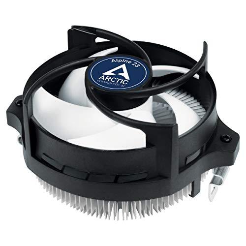 ARCTIC Alpine 23 - Kompakter AMD CPU Kühler für AM4, Wärmeleitpaste MX-2 voraufgetragen, Computer, PC - Schwarz