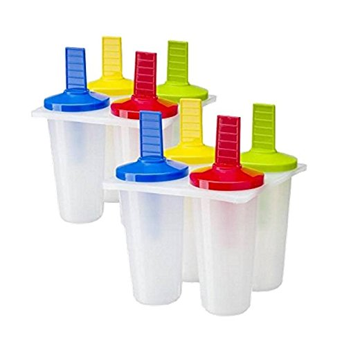 2 Pack of 4, Ice Pop Maker