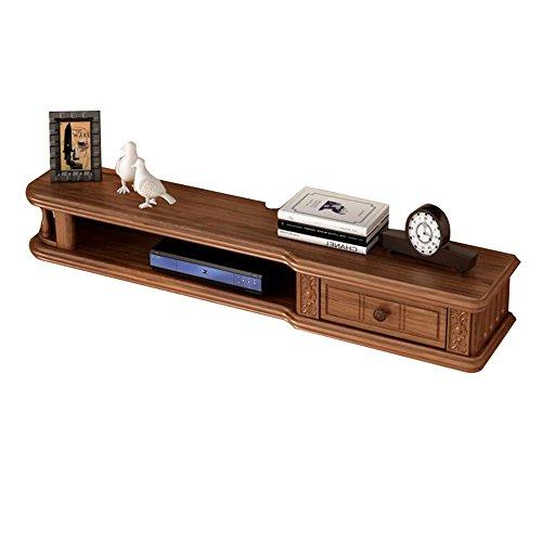 Wanddecoratie massief hout schorsing Set Top Box plank op de muur opknoping TV kast slaapkamer woord scheider creativiteit Amerikaanse 80/100/120/140 Cm 3 kleur optioneel