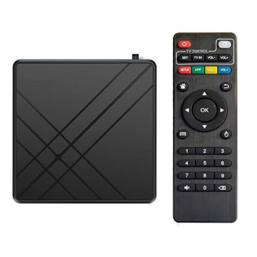 TV Box Android 9.0 TV Box Smart Media Box 4GB RAM 32GB ROM 4.2 WiFi 2.4G Ethernet Set Top Box Support 4K Ultra HD Internet Video Player