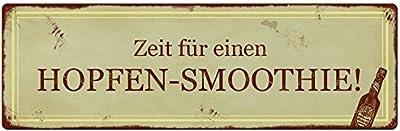 Interluxe METALLSCHILD Shabby Vintage Blechschild Man NEHME EIN Glas Wein Koch K/üche Mann Frau Geschenk Dekoration