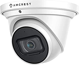 Amcrest UltraHD 4K (8MP) AI Outdoor Security Turret POE IP Camera, 3840x2160, 4K @30fps, 2.8mm Lens, IP67 Weatherproof, MicroSD Recording, Built in Microphone, White (IP8M-T2669EW-AI)