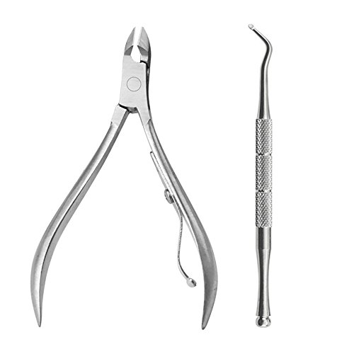 Ktyssp 2Pcs/Set Ingrown Toe Nail Correction Nippers Clipper Cutters Dead Skin Dirt Remo