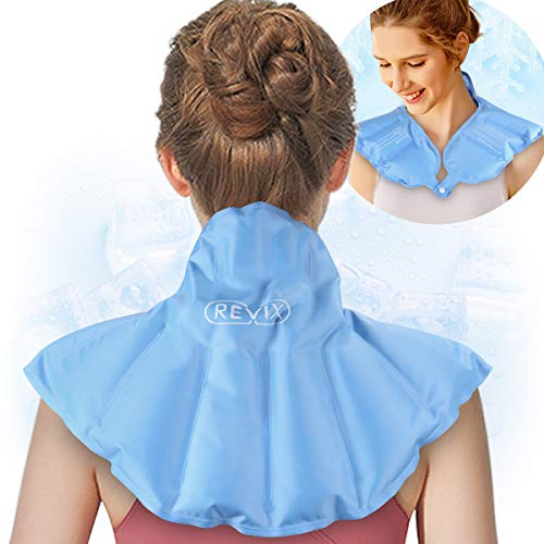 REVIX Neck Shoulder Ice Pack for Injuries Reusable Cold Compress Wrap...