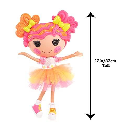 Lalaloopsy Sweetie Candy Ribbon 33cm con Perrito-Muñeca bombón con Vestido y Zapatos Intercambiables de Color Rosa y Amarillo-Caja Reutilizable-Edad: 3+ años, Multicolor (576891C3)