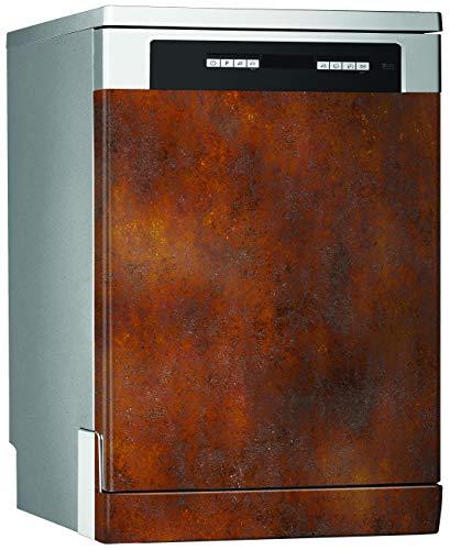 MEGADECOR Vinilo Decorativo para Lavavajillas, Medidas Estandar 67 cm x 76 cm, Efecto Hierro Oxidado