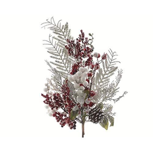 Verschneiter Zweig, Delicia, verschneit, grün