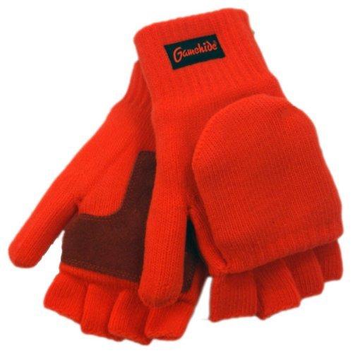 GameHide Cold Weather Shooting Gloves (Blaze Orange, Adult)