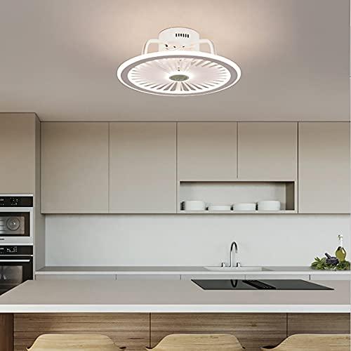 Φ48cm Ventilador Techo Con Luz Y Mando, 3 Velocidades Dormitorio LED Regulable Lamparas Ventilador De Techo Con Temporizador Moderno Silencioso Ventilador Techo Con Luz