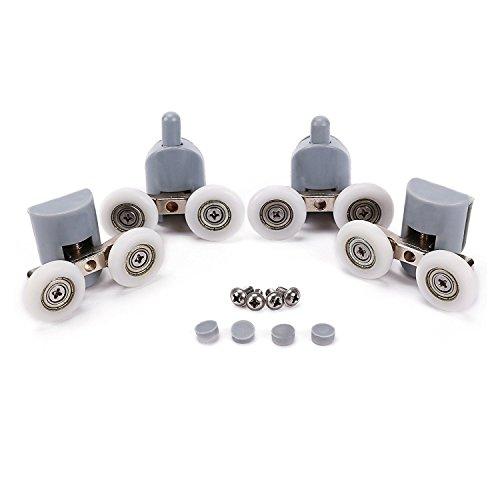 Lance Home Cuscinetto Doccia, Kit 8 Doppio rulli rullo ruote cuscinetti rotelline per la porta...