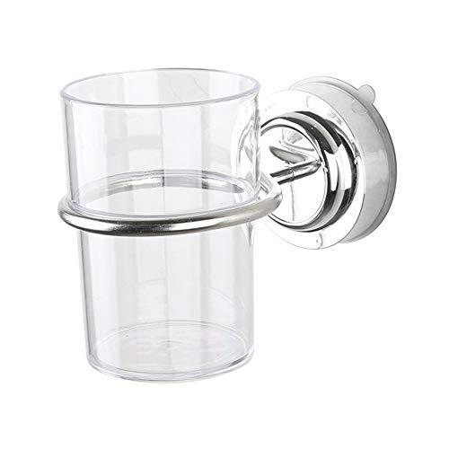 Saugnapf für Zahnputzbecher Halter-Badezimmer-Becherhalter mit Transparent Wash Cup Bad-Accessoires