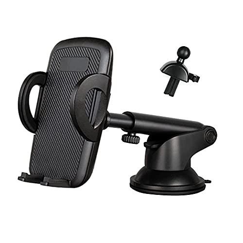 WIMITECH Supporto Cellulare Auto Universale, 3 in1per Cruscotto,Porta Cellulare Regolabile per Parabrezza e Bocchetta dell'Aria,Compatibile con:iPhone Samsung Xiaomi Huawei e Dispositivi GPS
