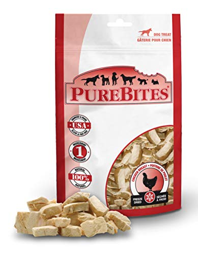 PureBites Freeze Dried RAW Chicken Breast Treats for Dogs, Made in USA, 8.6oz