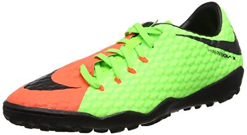 Nike Herren Hypervenom X Phelon III TF 852562 308 Fußballschuhe, Grün Electric Green Black Hyper Orange Volt, 42 EU