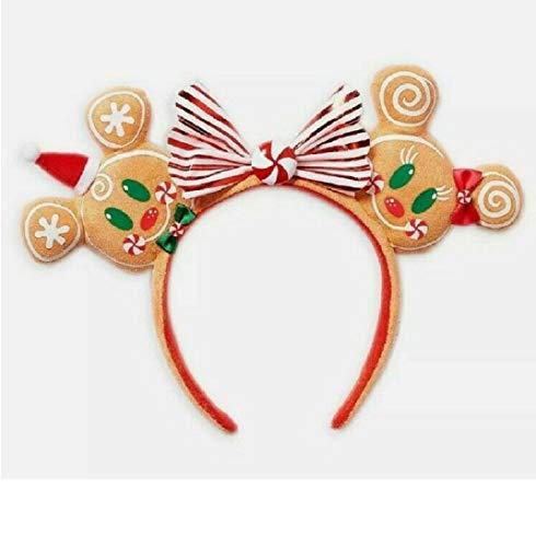 Disney 2020 Christmas Ears Headband Gingerbread Minnie & Mickey Mouse