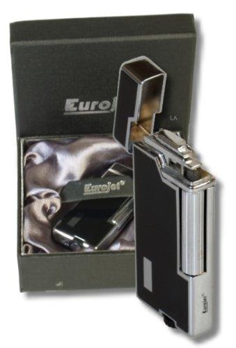 Steinfeuerzeug Eurojet Gentle Lack noir