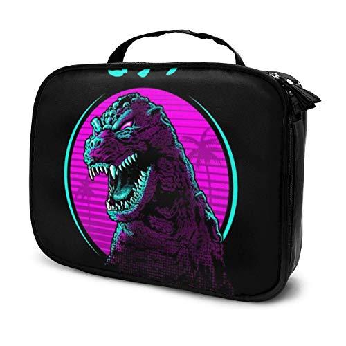 Trousse de Maquillage Pochette cosmétique Retro Godzilla Face Kit de Voyage pour Sac Multifonctionnel