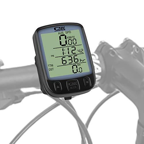 WERPOWER Fahrradcomputer, LCD Geschwindigkeit Fahrradtacho Fahrrad Kilometerzähler Radcomputer Tacho Fahrradcomputer Wasserdicht.