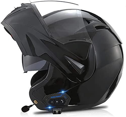 Casco Con Bluetooth Para Motocicleta, Aprobado Por DOT/ECE, Casco Modular Ligero, Cascos De Motocross Para Jóvenes, Hombres Y Mujeres 12,L