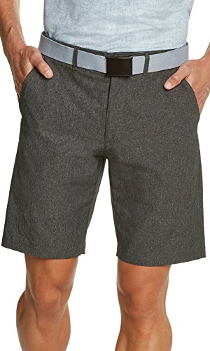Mens Dry Fit Golf Shorts - Quick Dry Casual Chinos w/Elastic Waist, 10' Inseam