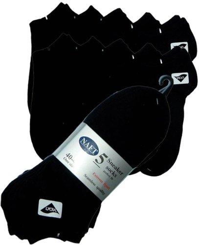 r-dessous 10 Paar Sneaker Sport Socken schwarz Füsslinge Kurzsocken Sneakers Socks 36-42, 40-46 Groesse: 40/46