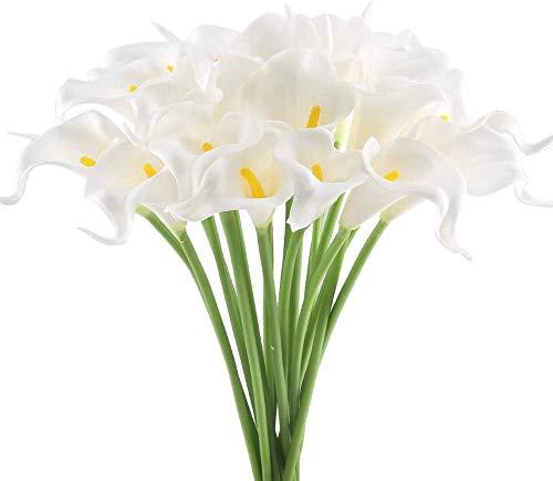 10pcs Fiore Artificiale Fiori Artificiali Calla Lily ,Decorazione Domestica Bouquet Decorazione di Cerimonia Nuziale Domestica Nuziale del Mazzo