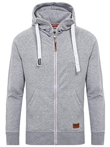Yazubi Men's Full Zip Midweight Hoodies Jacob Men Vintage Silver Sweater Hoody, Grey (Mirage Gray 154703), S