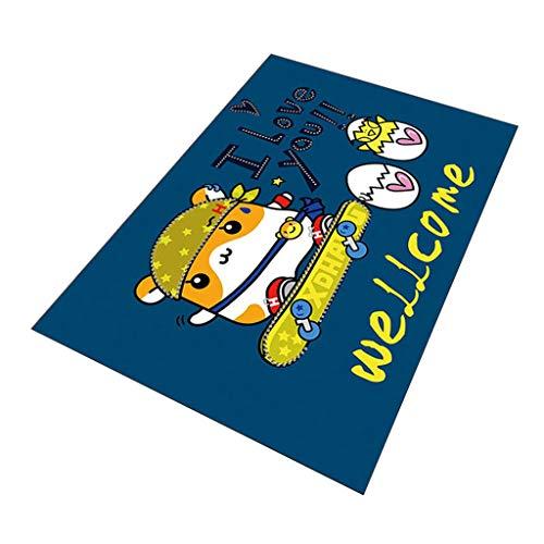 Brilliant firm Teppiche Teppich Kinderzimmer Cartoon Teppich Schlafzimmer niedlichen Bett kriechende Teppichboden Wohnzimmer Rutschfeste Spieldecke (Color : Blue, Size : 140 * 200cm)