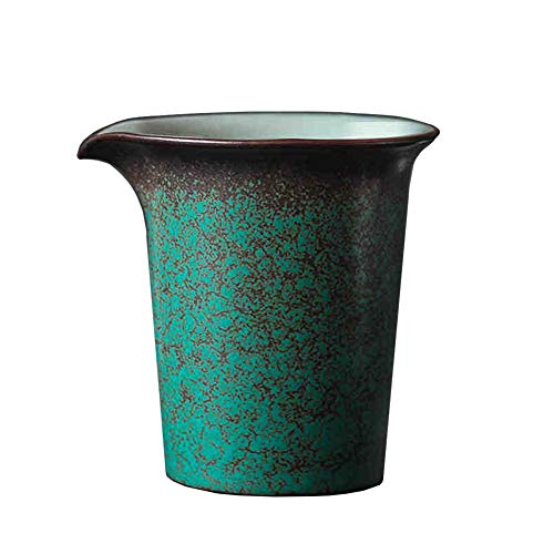 6 Oz Creamer Glas Melk Pitcher met Handvat Keramische Koffie Serveerbare Pitcher voor Saus Esdoorn Siroop in Keuken Tafel Pauw Groen