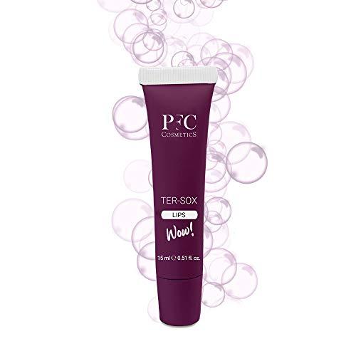 PFC Volumizzante labbra Ter Sox Wow Lips 15 ml Balsamo ridensificante con olio d oliva Glyceryl Tricaprylate Linefill GINSENG e Hyaluronic Filling Spheres per la cura della persona e delle labbra.
