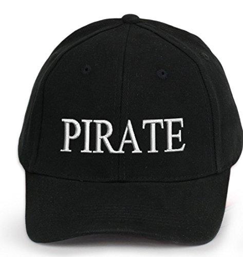 4sold Ancient Mariner, Captain Cabin Boy Crew First Mate Yachting Casquette de Baseball Inscription Lettrage Noir Blanc (Pirate)