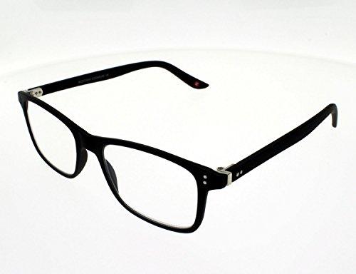 Montana Eyewear Sunoptic MR72 Lesebrille inklusive Soft Etui, schwarz / +2.5 Dioptrien