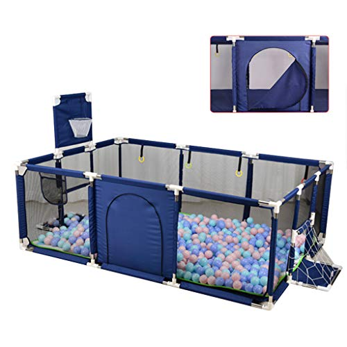 Check Out This Playpen Infant Toddlers Play Fence with Zipper Door & Hand Pull Ring, Baby with Game ...