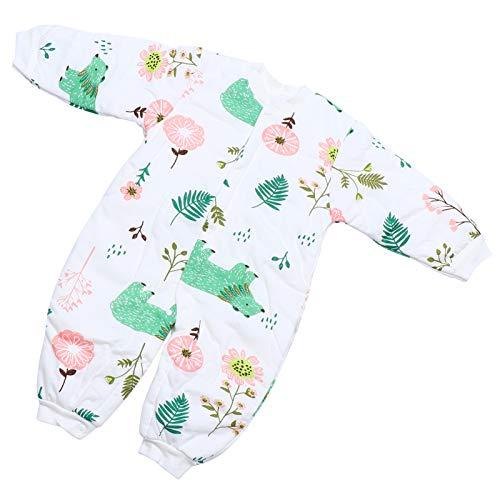 TOYANDONA Macacão de algodão unissex para bebês de manga comprida, macacão de uma peça, roupas de inverno para recém-nascidos, meninos 63 x 32 cm
