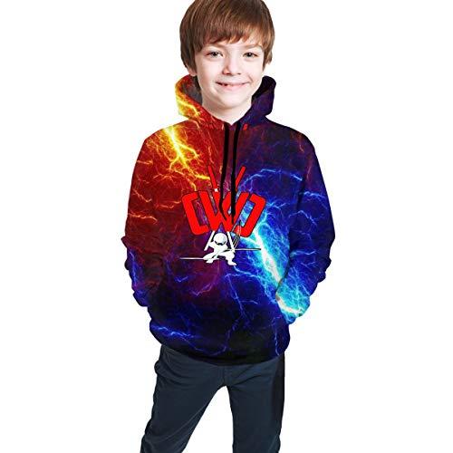 Cwc Chad Wild Clay Hoodies Boys Girl Novelty 3D Print Hooded Sweatshirts S Black