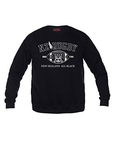 Dirty Ray Rugby New Zealand All Black Herren Sweatshirt F2 (XL)