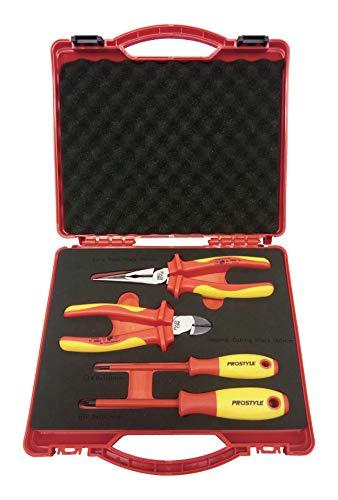 プロスタイルツール 絶縁工具セットT 4点入 樹脂アタッシュケース小 PZ SET T