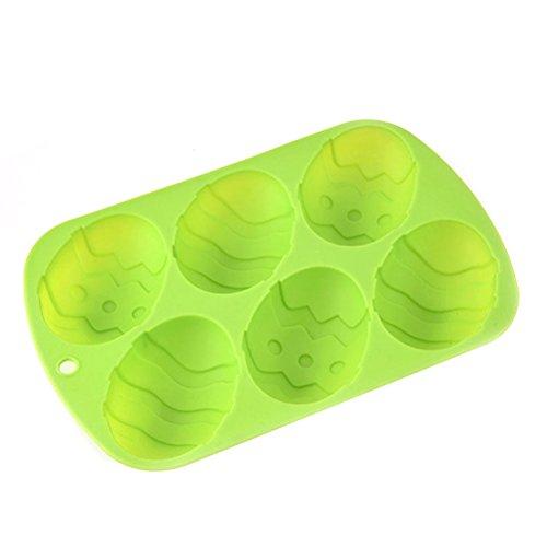 Ounona uovo di Pasqua stampo in silicone cioccolato caramelle a forma di uovo torta pan cupcake stampo verde