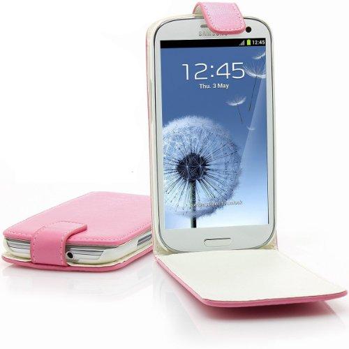 Xaiox Premium Kunstledertasche für Samsung GT-i9300 Galaxy S III S3 inkl. Display Schutzfolie Flip Case Tasche Etui