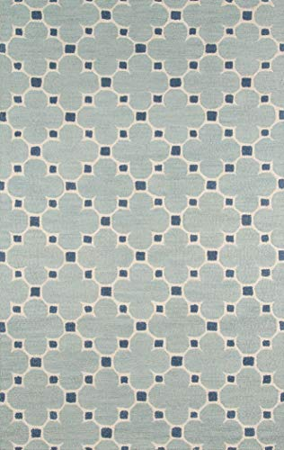 Momeni Rugs Dunes Collection, Hand Tufted 100% Wool Transitional Area Rug, 2' x 3', Blue