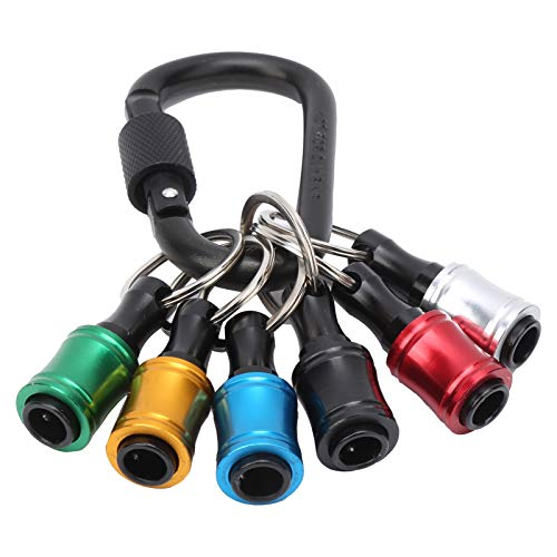 Soporte para puntas de destornillador, adaptador de barra de extensión, llavero de barra de extensión, soporte de puntas de cambio rápido de 1/4 pulgada para brocas, puntas de destornillador