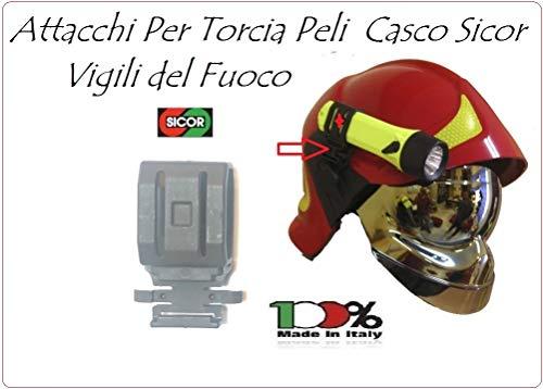 Agganci Attacchi Torcia SOLO SUPPORTO LAMPADA Peli Per Elmo Vigili Del Fuoco Originali Sicor VFR 2000 VFR 2009-PRO Art.5490001222-2