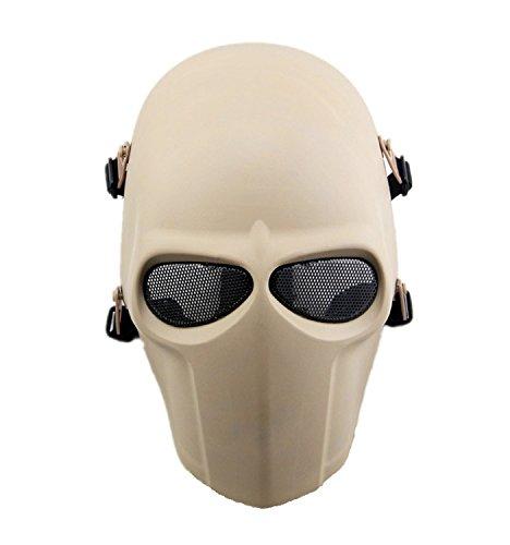 haoyk taktische Maske für Airsoft, Paintball, Cosplay, Hockey, BB, die schützende Vollmaske kann ebenfalls an Halloween getragen werden, DE