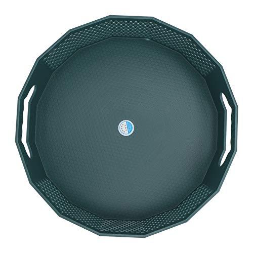 Cabilock Skivspelare kök förvaring organisatör plast roterande kryddhylla kosmetisk vitrinskåp för köksskåp skafferi sovrum kontor badrum 30 x 10 cm (grön)