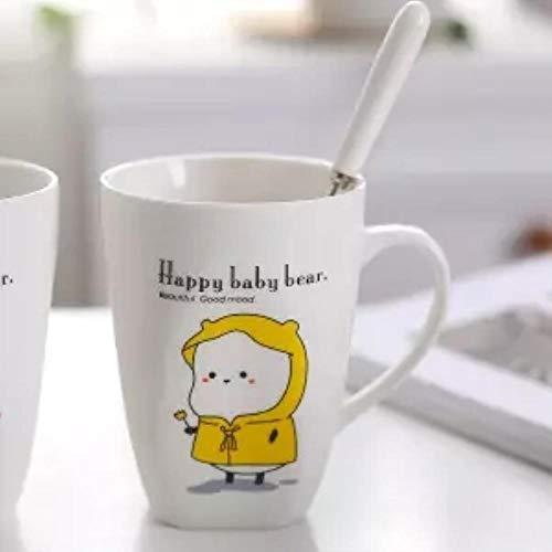 Mug Tasse Becher Kaffee Tasse Liebhaber Tasse Studentin Koreanische Version Eines Paares Mark Tasse Keramik Niedliche Milch Tasse Frühstück Tasse Kaffeetasse Wasser Tasse Tasse, 350 Ml Mit Einem Löff