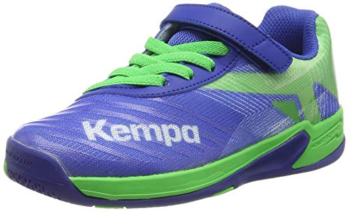 Kempa Unisex-Kinder Wing 2.0 JUNIOR Handballschuhe, Grün (Azur/Vert Printemps 01), 38 EU