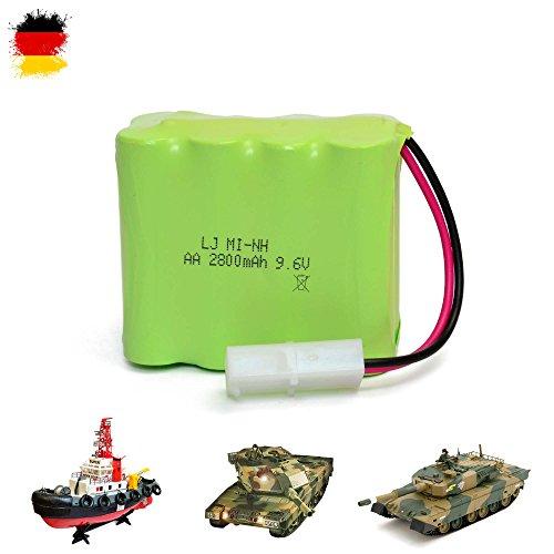 9.6V 2800mAh Akku für RC Boote Schiffe Panzer Heng Long 3808, 3809, YH4101b-1, YH4101b-6 und RC Schiffe 3810, Ersatzteil, Ersatzakku