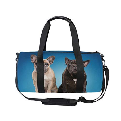 MNSRUU Reisetasche mit französischer Bulldogge, groß, für Reisen, Unisex, hohe Kapazität, großes Gepäck, Sporttasche