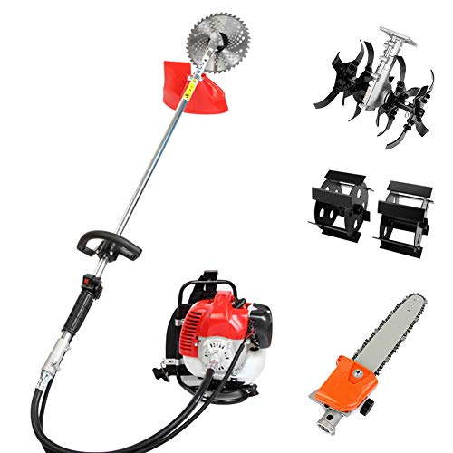Find Bargain Robbey 2-Cycle Brush Cutter, Gas String Trimmer Dewalt Pole Saw 4 in 1 Gas Hedge Trimme...